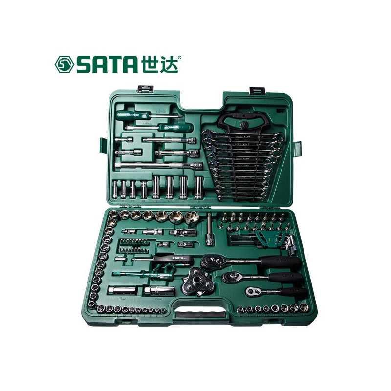 世达 121件汽车维修综合工具箱棘轮扳手套筒汽修工具套装6.3x10x12.5MM系列09014A