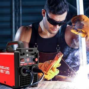 德力西电焊机220v 380v两用工业级315双电压手提式家用焊机 裸机【315高配工业款220380V】