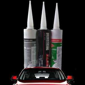汽车钣金胶 玻璃胶黑色汽车挡风玻璃胶聚氨酯焊接补漏密封胶 黑色胶1支